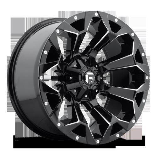 Fuel Wheels Black Gloss 20x9 Assault 5x4.5 5x5.0 Bolt Pattern 01 Offset
